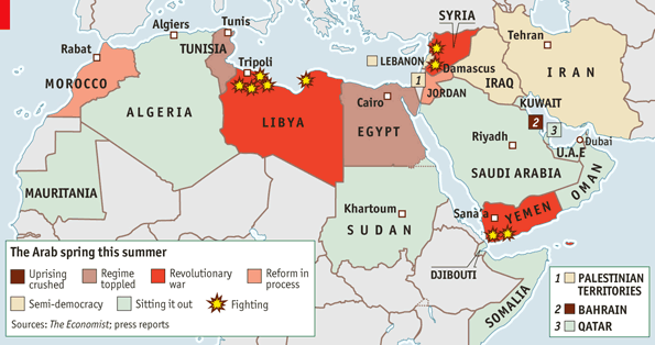 vox on a map to explain the 2011 arab spring and 39