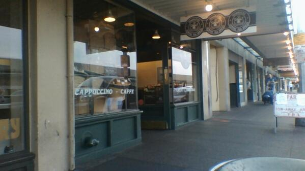 Coffee at the Starbucks that started it all.  Now to the bus!  #commutetweets http://t.co/VLGeGnzofG