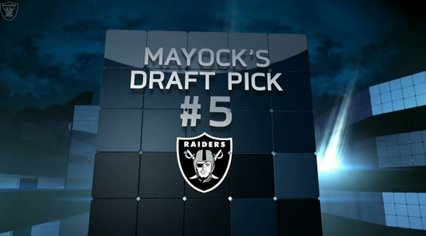ICYMI, Mike Mayock of @nflnetwork says the Raiders will take ____________ at No.5. http://t.co/EQoEC2pJ0I http://t.co/DOQhmviWAy