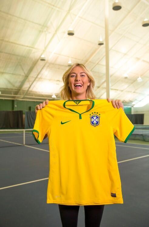 Mariya Şarapova Braziliya yığmasının forması ilə (foto)