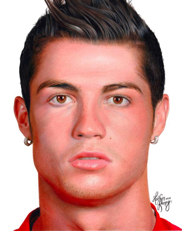 Heather Rooney On Twitter Quot Colored Pencil Drawing Of Cristiano Ronaldo Cristiano Realmadrid
