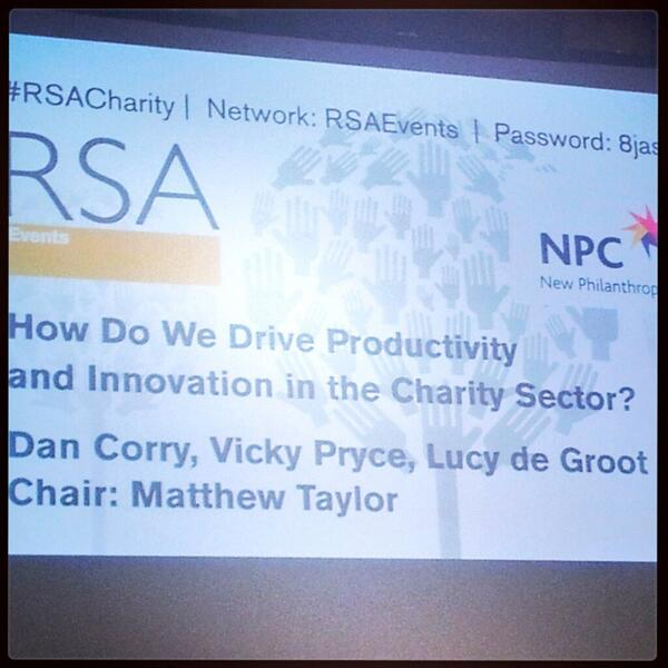 Thumbnail for How do we drive productivity + innovation in the charity sector?