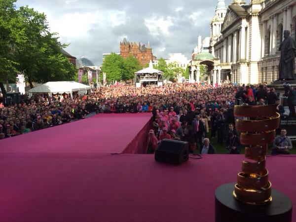Thanks Belfast for the warm welcome! Go @Lotto_Belisol #Giro http://t.co/fS0tQsn10i