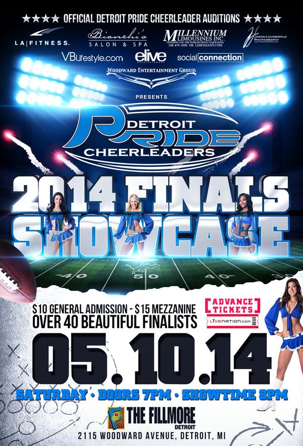 Good news! Sat, May 10, I'll be assisting with the @DetroitPride Cheerleaders Finals at @FillmoreDetroit #ComeSupport http://t.co/NhVSO8zBTN