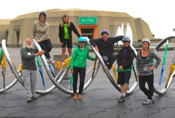 Helmet photo on the DNA w/ Lawrence Hall of Science staffers riding for #BiketoWorkDay #BikeMonth @BikeToWorkSFBay http://t.co/vPoT99t2NA