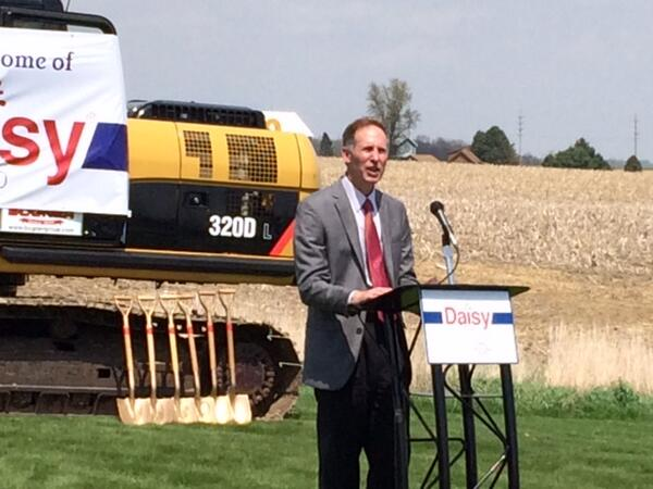 Daisy Brand President Vincent Taylor speaking at groundbreaking in Wooster, OH