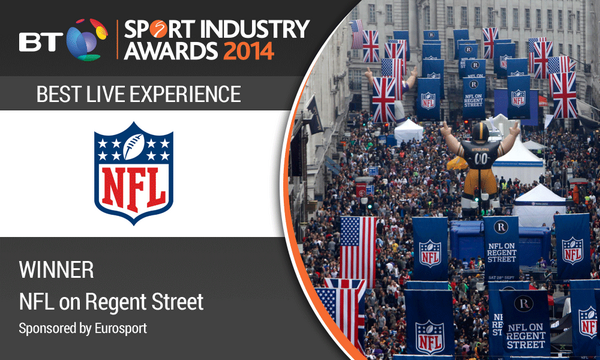 WINNER Best Live Experience, sponsored by @Eurosport: NFL – NFL on Regent Street #BTSIA http://t.co/zZCUrSwW3k