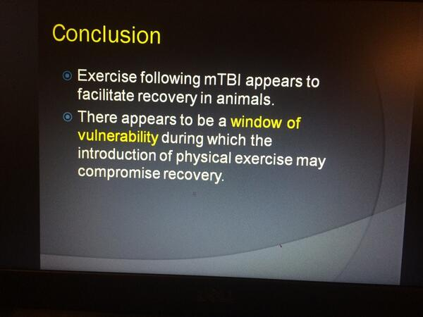 Use of exercise in treatment #SarahJaneBrain #Treat @SportsNeuroSoc Ruben #Echemendia http://t.co/BPGnAHj56D