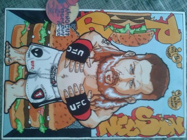 My new drawing  for @roynelsonmma @ufc @Hayabusa_MMA by a French artist @Vincenthury