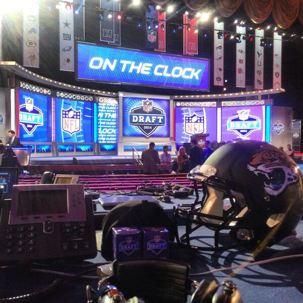 View from the draft table. #JAXDraft14 http://t.co/FpOXcZ2BiJ