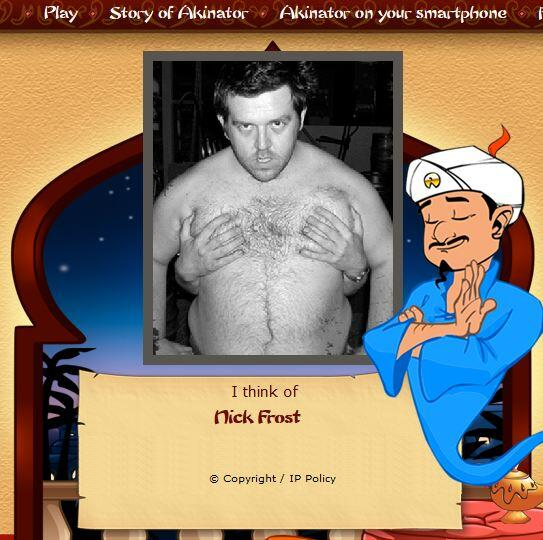 "Al's Toy Varn on Twitter: ""@nickjfrost The Akinator has quite a flattering  photo of you I think... Site link: http://t.co/YXQAp4BhRP  http://t.co/OsoiGbtxPa"""