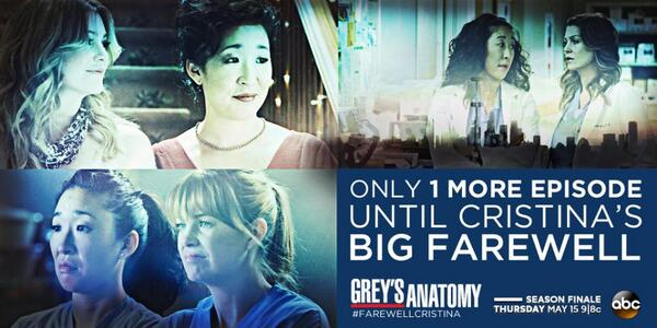 Greys Anatomy On Twitter In One Hour Watch The Last Episode Of