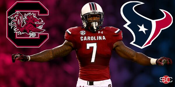 BREAKING: The Houston Texans have made Jadeveon Clowney the No. 1 overall pick in the NFL Draft. #HOUpick http://t.co/lCePoUDvTs