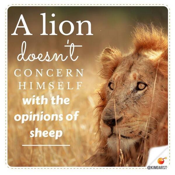 """Lion Sheep Quote: Online Marketing Guru On Twitter: """"A Lion"""