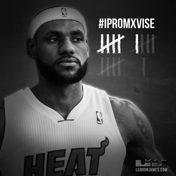 Win number VI. 10 remain. Chalk it up #TeamLeBronNation. @KingJames is 1 game closer. #IPROMXVISE http://t.co/9xGiJp8DRR