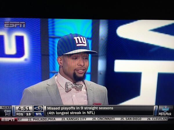 Congrats to @OBJ_3 who became the highest drafted WR in @LSUfball history! http://t.co/j1nUfIuXex http://t.co/FXCOoXK2J6
