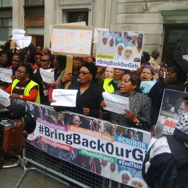 #BringBackOurGirls London Protest #Today http://t.co/lmbjZZuO2Z