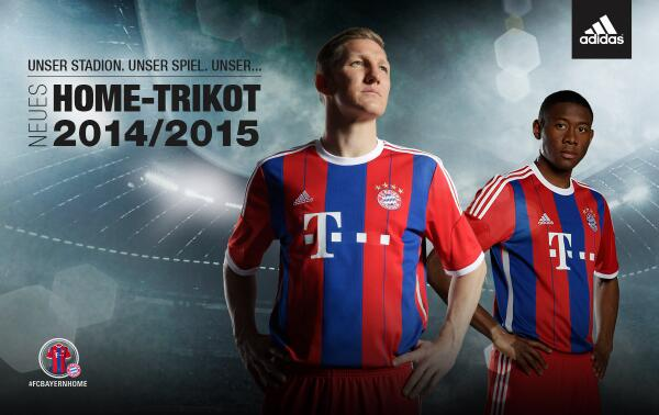 BnLdrooIYAAG9rz Bayern Munich officially unveil their new 2014 15 home shirt [Video & Pictures]