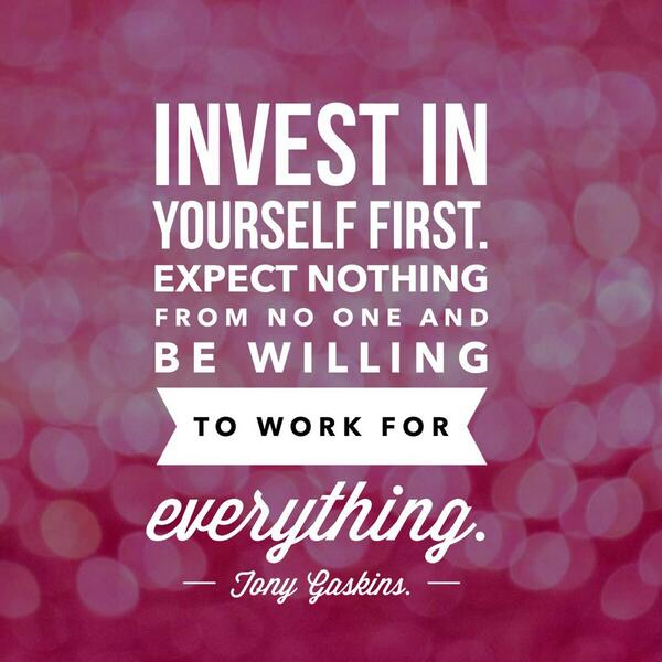 invest in yourself You are your own greatest asset think about it who you are, how you feel about yourself, how you present yourself, what you know, your overall physical and mental health it all contributes to how you perform at work, at home, and in the things you do for fun of course, you're also a lot more.