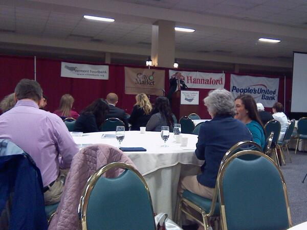 @VermontFoodbank Dr Lantangne Welcome #vthungerconf @UVMExtension http://t.co/tr6jZ5nmsG