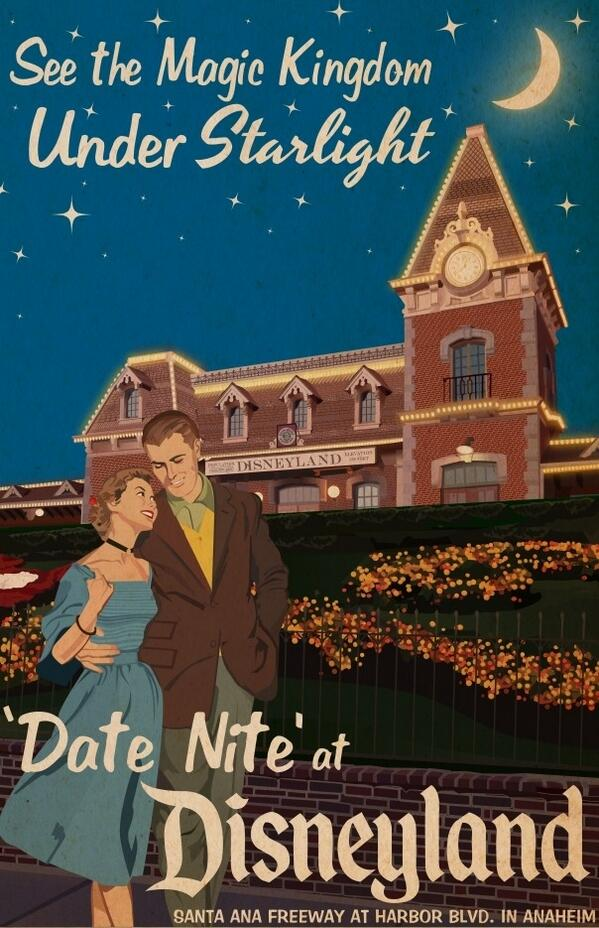 "#FlashbackFriday: In the 1950s and 1960s, @Disneyland promoted special ""Date Nites."" #Vintage @DisneylandToday http://t.co/XSVVzcKbi2"