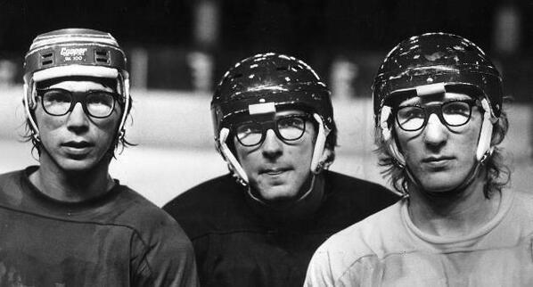 The original Hanson Brothers AKA (Carlson Brothers) existed way before SlapShot!  #slapshot #oldtimehockey @MNSaints http://t.co/V81Q1koICT