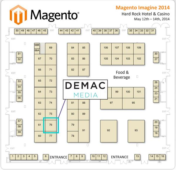 demacmedia: Let's talk commerce! Visit us during #MagentoImagine, we're booth # 76! http://t.co/kwf02t5wHE