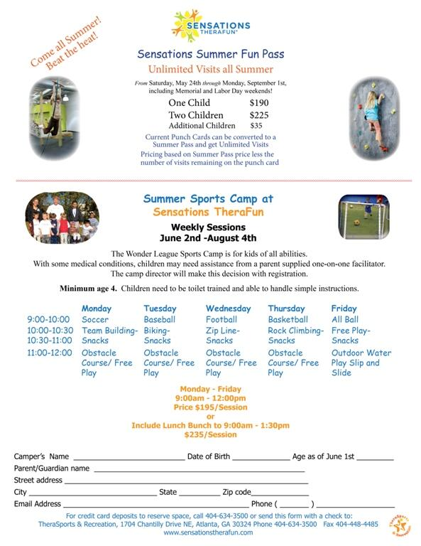 Sensations Therafun On Twitter Summer Sports Camp Is Filling Up