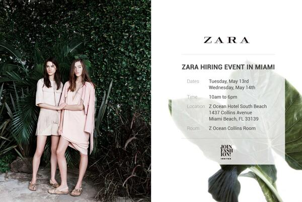 Inditex Careers On Twitter Zara Hiring Event In Miami May
