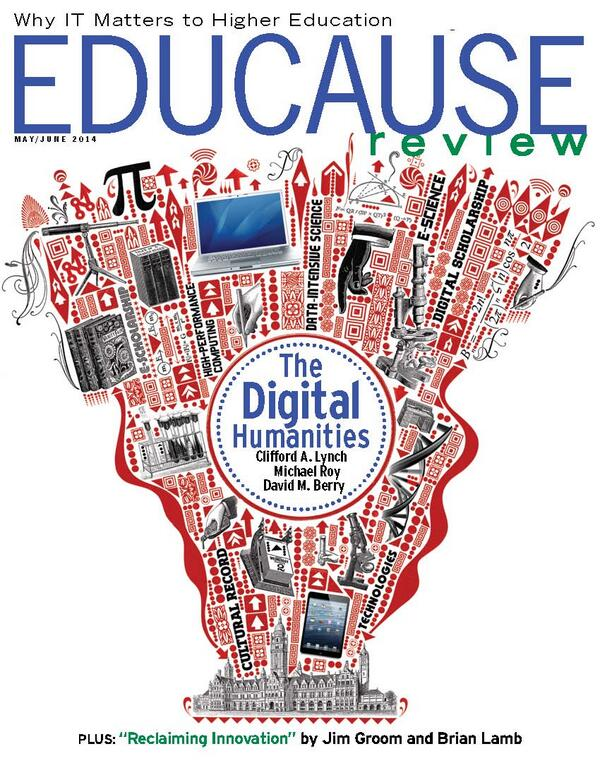 And speaking of our May/June issue, here's a sneak peak at the cover of the print version. #DigitalHumanities http://t.co/pNnyd486Pe