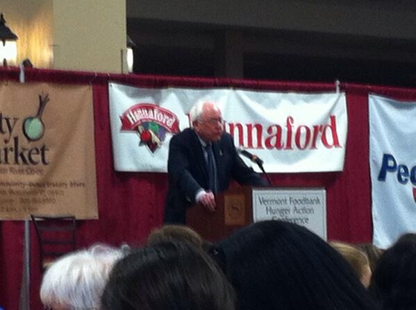 @SenSanders speaking to #VTHungerConf about the right to food and justice. http://t.co/zTbjtDlWge