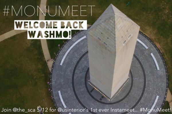 .@Interior's celebrating the Washington Monument's reopening w/ an instameet 5/12 & @the_sca will be there! #MonuMeet http://t.co/uIAF1snaid