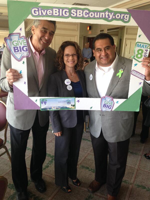 Dr. Al Karnig, Erin Phillips and Supervisor James Ramos gave BIG at the @caltheatre #GiveBigSBCounty http://t.co/ixzXqQXfys