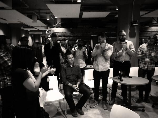A standing ovation for @stop, fearless leader, teacher, friend. You will be missed. http://t.co/4BHow5gF5J