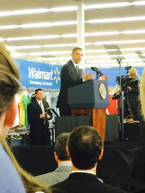 Thanks to President Obama for helping us announce big plans for solar today & to our associate who took this picture! http://t.co/f4e5lf4YFy