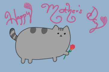 Didlr On Twitter Pusheen Luv For The Moms Mothersday Sayshappy Mothers Day By Oiloilee Via