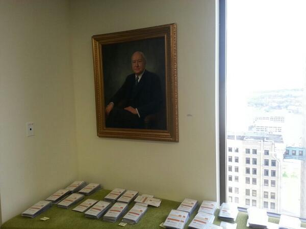 "Cannot wait! ""@larsleafblad: Mr. Bush presiding over 1000+ namebadges for @BushFoundation #bushCON. Here we go!! http://t.co/BevXtq19hW"""