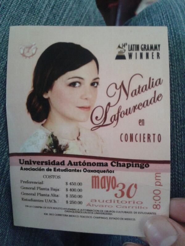 Natalia Lafourcade on Twitter