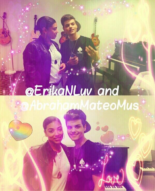 """""""@orgulloabrahame: @ErikaNLuv and @AbrahamMateoMus http://t.co/AfLm91xXdw"""" > love the hearts!"""