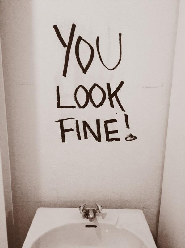 Bathroom Mirror You Look Fine davina janssens (@davinajanssens) | twitter