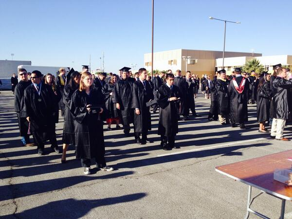 Let the lining up begin. #nmsugrad http://t.co/tWMNMQ4sda