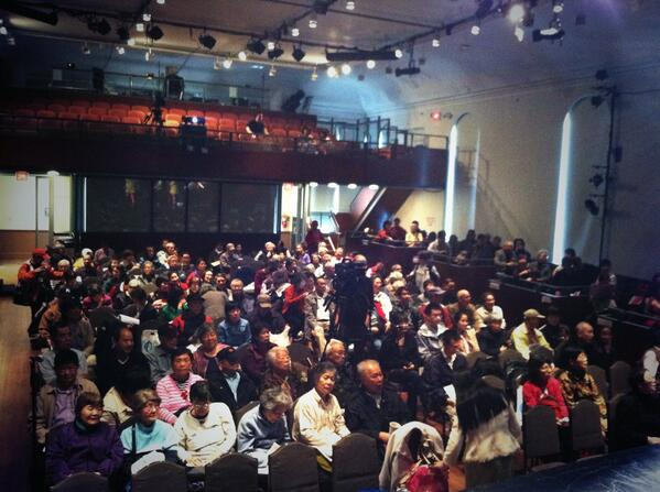 The Flushing Town Hall auditorium is filling up, Staying Sharp in Mandarin will begin shortly http://t.co/dLMRfRHoak
