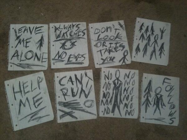 Картинки с записками слендермена