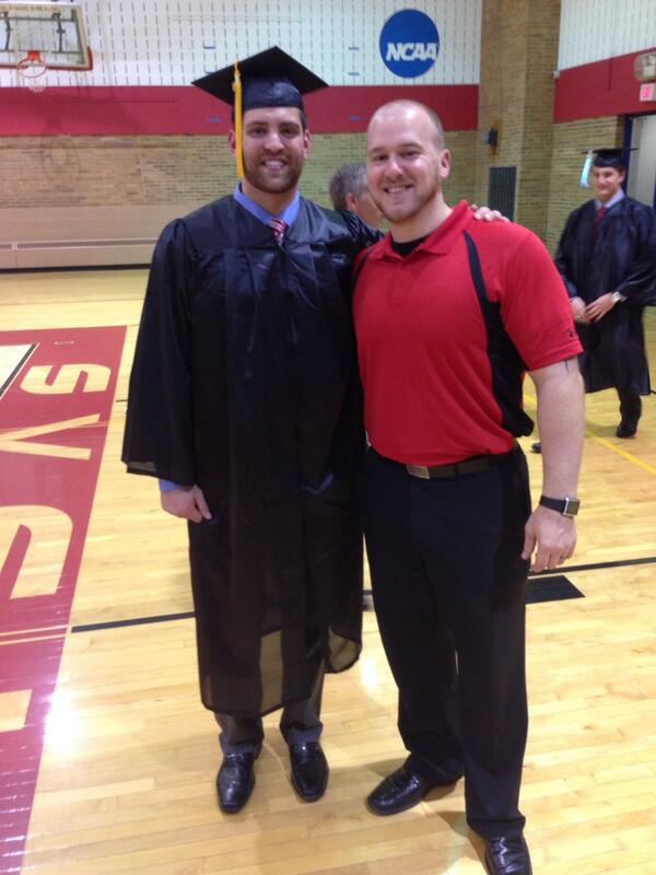 Congrats to my 3rd senior Ryan Busch on graduating! Off to grad school to become a PA. He will be missed! #ProudCoach http://t.co/2lzEwctQAX