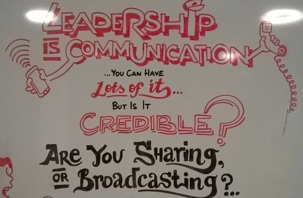 #ResponsiveOrg Leadership is communication. Are you sharing or broadcasting? #leadership #socbiz #workoutloud http://t.co/C7F9Nlu1R6