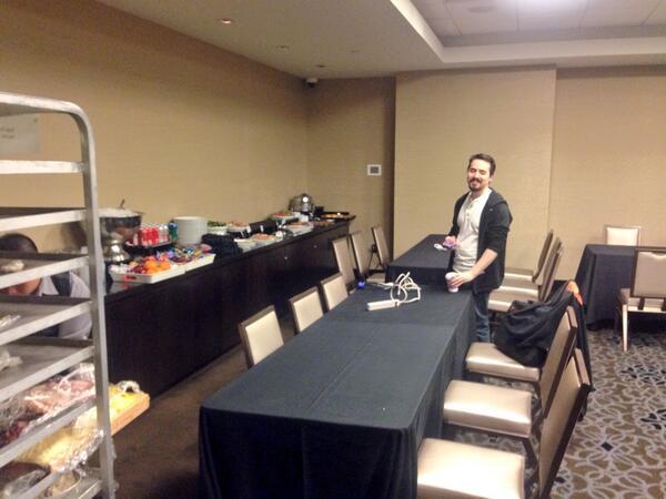 benmarks: #MageHackathon room getting set up with lunch. And @allanmacgregor. Studio 1B. #MagentoImagine http://t.co/Ig9BWnYWGU