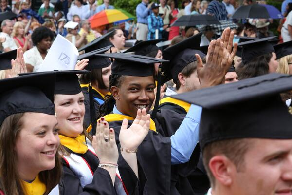 Photographs of #longwoodu14 Commencement now posted to Facebook - https://t.co/D9AiXvxLQI http://t.co/X6FvFUcc17