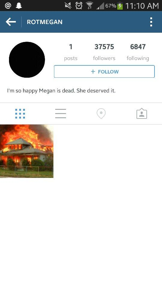 Omg. Found an Instagram account bashing #RIPCampbellFamily #RIPMegan and 37k+ people are following it? WTF PEOPLE?? http://t.co/gqnqjgcm00