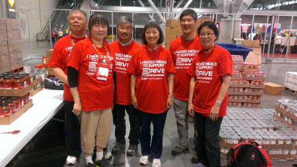 These @AARP members flew fr San Francisco & are packing meals for Drive To End Hunger at #Lifeat50 Boston. http://t.co/t59gDm8xzA
