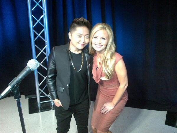Thanks 2 the lovely Charice @officialccrp for coming in #GMSD. Performing tonight in Escondido. #SanDiego http://t.co/ey5avB1VH0